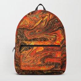 Dirty Acrylic Paint Pour 24, Fluid Art Reproduction Backpack