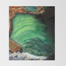 Over the falls Throw Blanket