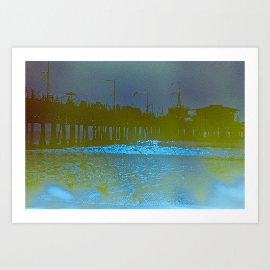 Santa Monica Pier. Art Print