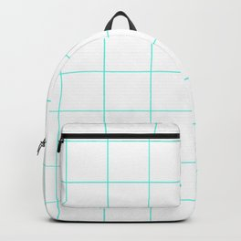 Graph Paper (Turquoise & White Pattern) Backpack