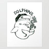 Dolphins, YO! Art Print