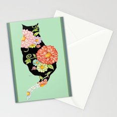 Elegant Kitty Silhouettes Stationery Cards