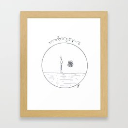 Just a simple thing Framed Art Print