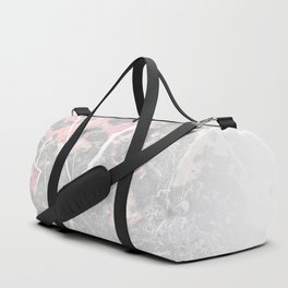 Pastel Pink & Grey Marble - Ombre Duffle Bag
