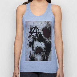abstract anarchy skull Unisex Tank Top