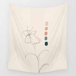A Floral Palette Wall Tapestry