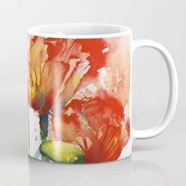 Lush Orange Spring Poppies Coffee Mug