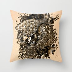 GOLDEN PISCES Throw Pillow