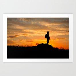Sapper Sunset Art Print