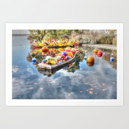 Floating Glass Art Print