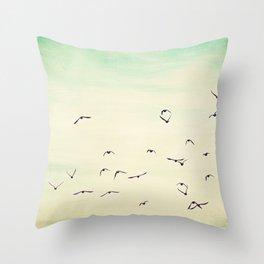 In flight .. Throw Pillow