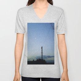 Slingshot the Moon Unisex V-Neck