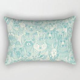 canadian animals teal pearl Rectangular Pillow