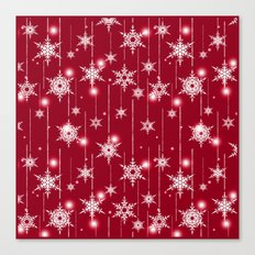 Bright Christmas background. Canvas Print
