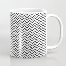 Black & White Hand Drawn ZigZag Pattern Coffee Mug