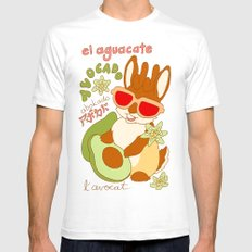Jackalope and Avocado White SMALL Mens Fitted Tee