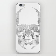 Skull BW iPhone Skin