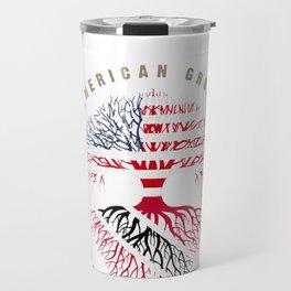 Womens American Grown Trinidadian Roots Trinidad & Tobago Shirt V-Neck T-Shirt Travel Mug