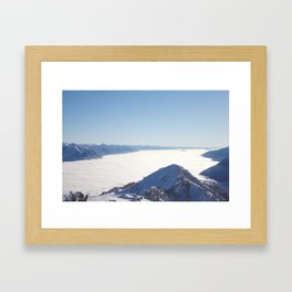 Valley Above the Clouds Framed Art Print