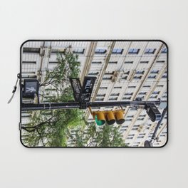 New York Traffic Lights & Signs at Wall Street / Broadway Junction Laptop Sleeve