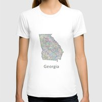georgia T-shirts featuring Georgia map by David Zydd