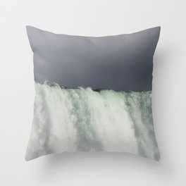 Top of Niagra Falls Throw Pillow