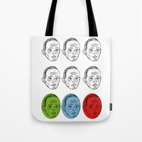 talking heads Tote Bags featuring Heads by Nü Köza