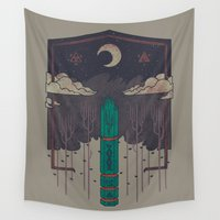 occult Wall Tapestries featuring The Lost Obelisk by Hector Mansilla