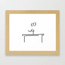 gym balance beam Framed Art Print