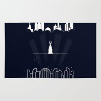 bioshock Area & Throw Rugs featuring Beyond the doors by rKrovs