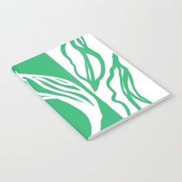 Long Leaf Stripe green Notebook