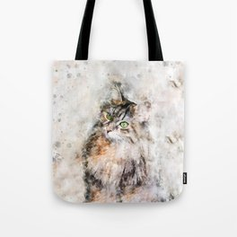 Duchess Watercolor Cat Tote Bag