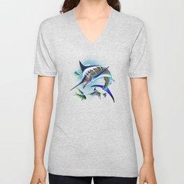 Marlin and Mahi Mahi Unisex V-Neck