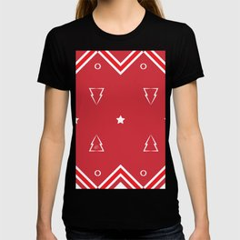 Christmas Tree Pattern #xms #holidays #festive #decor #red #white #kirovair T-shirt