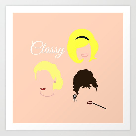 Doris, Audrey, Grace Art Print