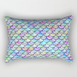 Rainbow Bubble Scales Rectangular Pillow