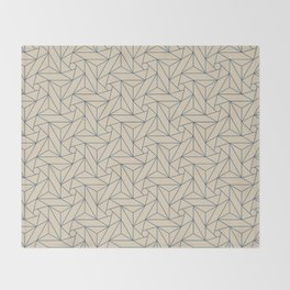 Blue & Beige Abstract Triangle Geometric Mosaic Shape Pattern Pairs To 2020 Color of the Year Throw Blanket