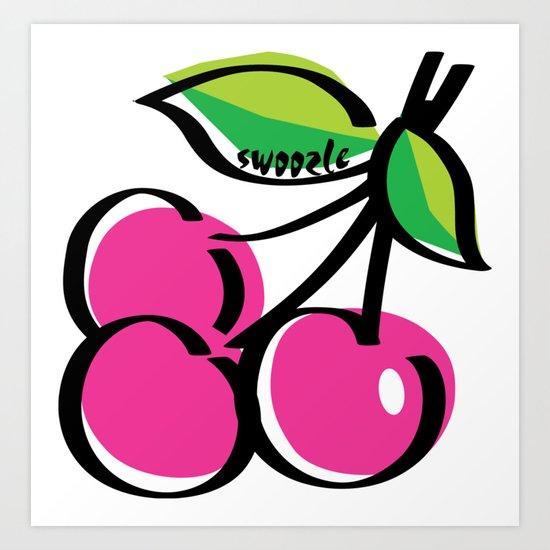 Cherry Swoozle Art Print