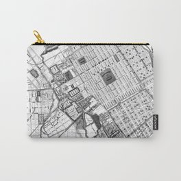Vintage Map of San Jose California (1886) BW Carry-All Pouch