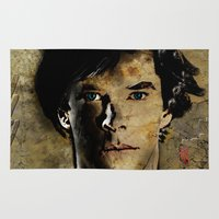 cumberbatch Area & Throw Rugs featuring Cumberbatch as Sherlock Holmes by André Joseph Martin