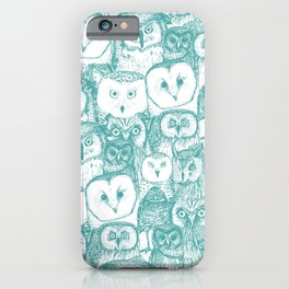 just owls teal blue iPhone Case