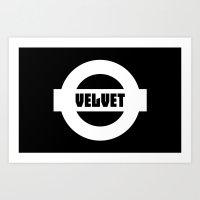 velvet underground Art Prints featuring Velvet by moop