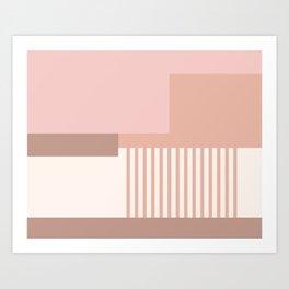 Sol Abstract Geometric Print in Pink Art Print