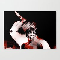 scream Canvas Prints featuring scream by KrisLeov