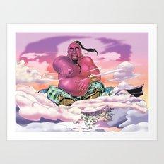 The Genie King Art Print