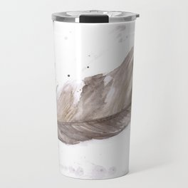 Found feather Travel Mug