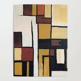 Composition with squares and rectangles Poster