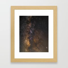 Deep Milky Way Core Framed Art Print
