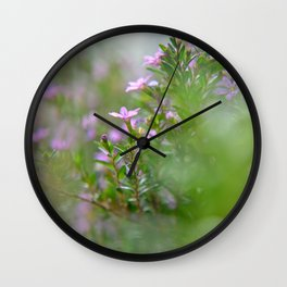 itty-bitty purple Wall Clock