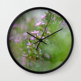 itty-bitty purple Wall Clock